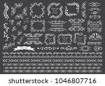 set of vector graphic elements... | Shutterstock .eps vector #1046807716