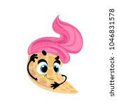 vector funny ice cream  cartoon ...   Shutterstock .eps vector #1046831578