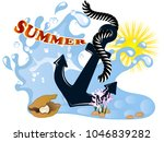 summer background with wave ...   Shutterstock .eps vector #1046839282