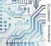 vector circuit board... | Shutterstock .eps vector #1046843722