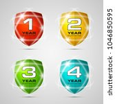 shield with guarantee one  two  ... | Shutterstock .eps vector #1046850595