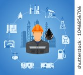 oil industry concept with two... | Shutterstock .eps vector #1046856706