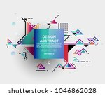 colorful abstract design.... | Shutterstock .eps vector #1046862028