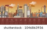 heavy industrial factory... | Shutterstock .eps vector #1046863936