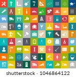 construction icons set ... | Shutterstock .eps vector #1046864122