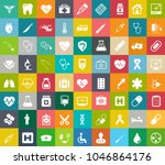 medical icons  health care... | Shutterstock .eps vector #1046864176