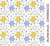 floral element  yellow blue...   Shutterstock .eps vector #1046866102