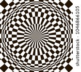 optical illusion  black and... | Shutterstock .eps vector #1046866105