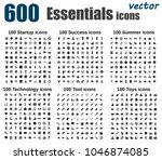 big vector icon set 600   start ... | Shutterstock .eps vector #1046874085