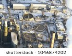 a huge and working cement plant ... | Shutterstock . vector #1046874202