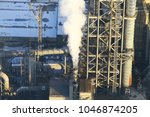 a huge and working cement plant ... | Shutterstock . vector #1046874205