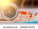 travel destination points and... | Shutterstock . vector #1046876392