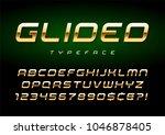 vector shiny golden display... | Shutterstock .eps vector #1046878405