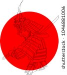 japanese theme   abstract... | Shutterstock .eps vector #1046881006