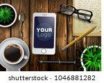 modern workspace vector set...   Shutterstock .eps vector #1046881282