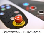 keypad with red emergency... | Shutterstock . vector #1046905246