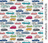 pattern with hand drawn doodle...   Shutterstock .eps vector #1046912536