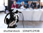 news conference. public... | Shutterstock . vector #1046912938