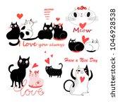 vector festive funny set of... | Shutterstock .eps vector #1046928538