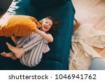 happy kid girl having fun at...   Shutterstock . vector #1046941762