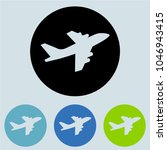 airplane icon glyph for ui