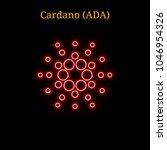 red neon cardano  ada ... | Shutterstock .eps vector #1046954326