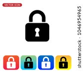 lock icon vector | Shutterstock .eps vector #1046954965
