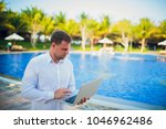 working on laptop from the...   Shutterstock . vector #1046962486
