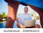 woman distracting from the work ...   Shutterstock . vector #1046962612