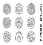 vector illustration set of nine ... | Shutterstock .eps vector #1046965996