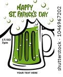 happy st. patrick's day poster. ... | Shutterstock .eps vector #1046967202