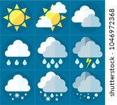 weather and weather phenomena...   Shutterstock .eps vector #1046972368