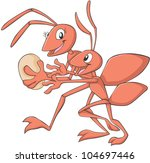 happy mother and child ant... | Shutterstock .eps vector #104697446