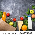 grocery shopping concept.... | Shutterstock . vector #1046974882