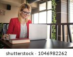 business woman is working on...   Shutterstock . vector #1046982262