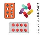 set of vector pills and...   Shutterstock .eps vector #1046984422