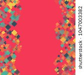 rhombus backdrop minimal... | Shutterstock .eps vector #1047003382