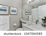 bathroom interior design | Shutterstock . vector #1047004585