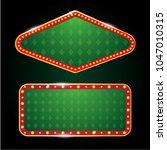 2 vectors casino banner sign... | Shutterstock .eps vector #1047010315