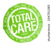 total care rubber stamp. | Shutterstock .eps vector #104701385