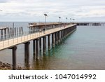 the new and old jetty at rapid...   Shutterstock . vector #1047014992