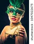 upscale indian woman wearing... | Shutterstock . vector #1047022675