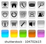 black on white glossy internet... | Shutterstock . vector #104702615