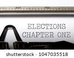 elections chapter one printed... | Shutterstock . vector #1047035518
