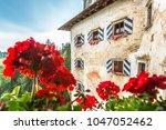 predjama castle in slovenia.... | Shutterstock . vector #1047052462