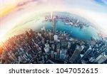 Panorama Aerial View Of Hong...