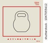 kettlebell line icon | Shutterstock .eps vector #1047055612