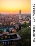 view of verona city with ponte... | Shutterstock . vector #1047056662