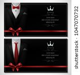 set of black tuxedo business... | Shutterstock .eps vector #1047070732