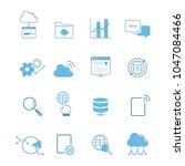 communication technology icon... | Shutterstock .eps vector #1047084466
